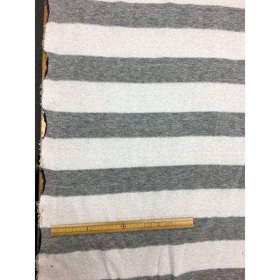 画像2: 生地:ボーダー両面ニット(グレー/白、ブルー/白)