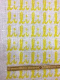 生地:総柄麻プリント(黄色)1パネル88×148