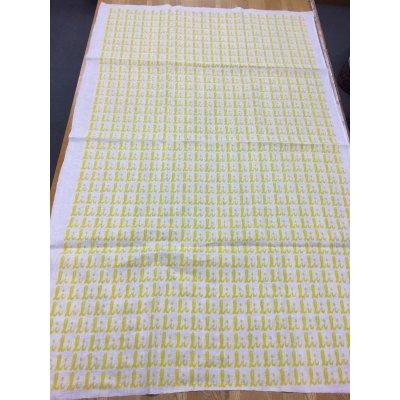 画像3: 生地:総柄麻プリント(黄色)1パネル88×148