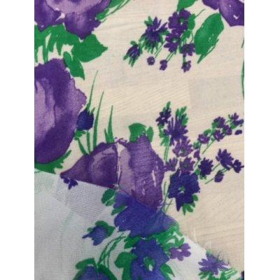 画像4: 生地:花柄アセテート(白/紫)