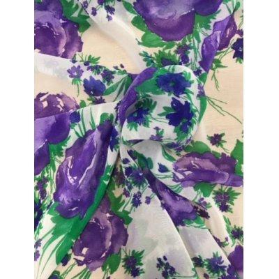 画像5: 生地:花柄アセテート(白/紫)